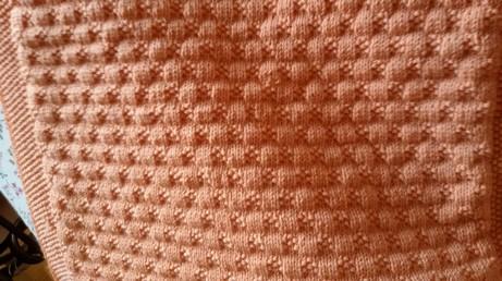particolare da vicino della copertina in lana